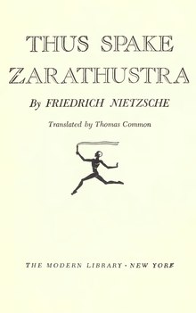 Thus Spake Zarathustra - Thomas Common - 1917.djvu