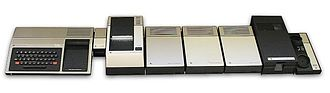 Texas Instruments TI-99/4A - State of the art 16 bit computer system in 1979 – a TI-99/4 console, including the rare Thermal Printer.