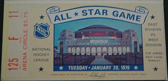 St. Louis Arena - Ticket All Star Game 1970