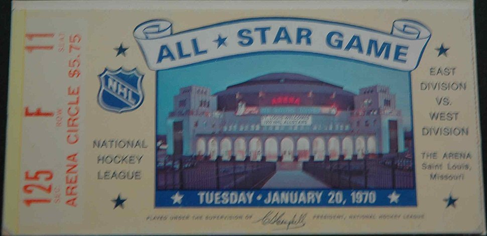 Ticket All Star Game 1970