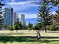 Tightrope walking at Pratten Park, Broadbeach, Queensland.jpg