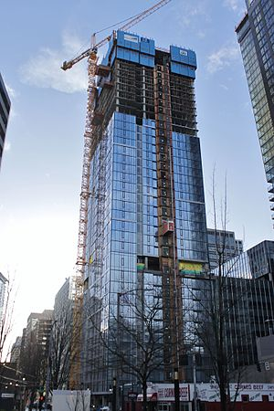 AMLI Arc - South tower under construction in February 2017