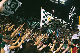 Timbers Army - Timbers Army during a 2014 match at Providence Park