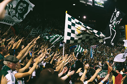 Timbers Army during a 2014 match at Providence Park 5cd1f606e678