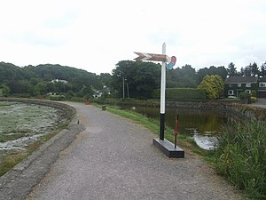 Timoleague railway station - Image: Timoleague and Courtmacsherry Light Railway geograph.org.uk 1393989