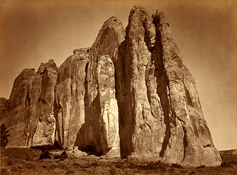 File:Timothy O'Sullivan, South side of Inscription Rock, New Mexico, 1873.jpg