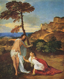 Titian - Christus und Maria Magdalena Noli me tangere