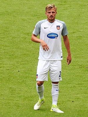 Marcel Titsch-Rivero - Titsch-Rivero playing for 1. FC Heidenheim in 2017