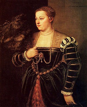 Portrait of Lavinia Vecellio - A 1560-65 portrait by Titian, sometimes also identified as Lavinia (Dresden, Gemäldegalerie Alte Meister).