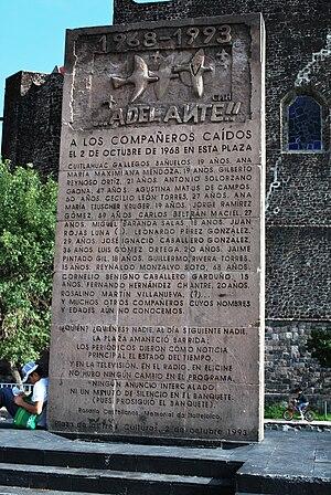 Conjunto Urbano Nonoalco Tlatelolco - Monument to the Tlatelolco massacre in the Plaza de las Tres Culturas