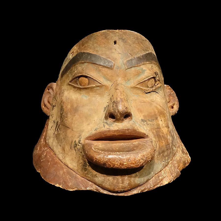 Tlingit sculpted helmet-71.1951.34.1