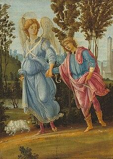 <i>Tobias and the Angel</i> (Filippino Lippi) painting by Filippino Lippi