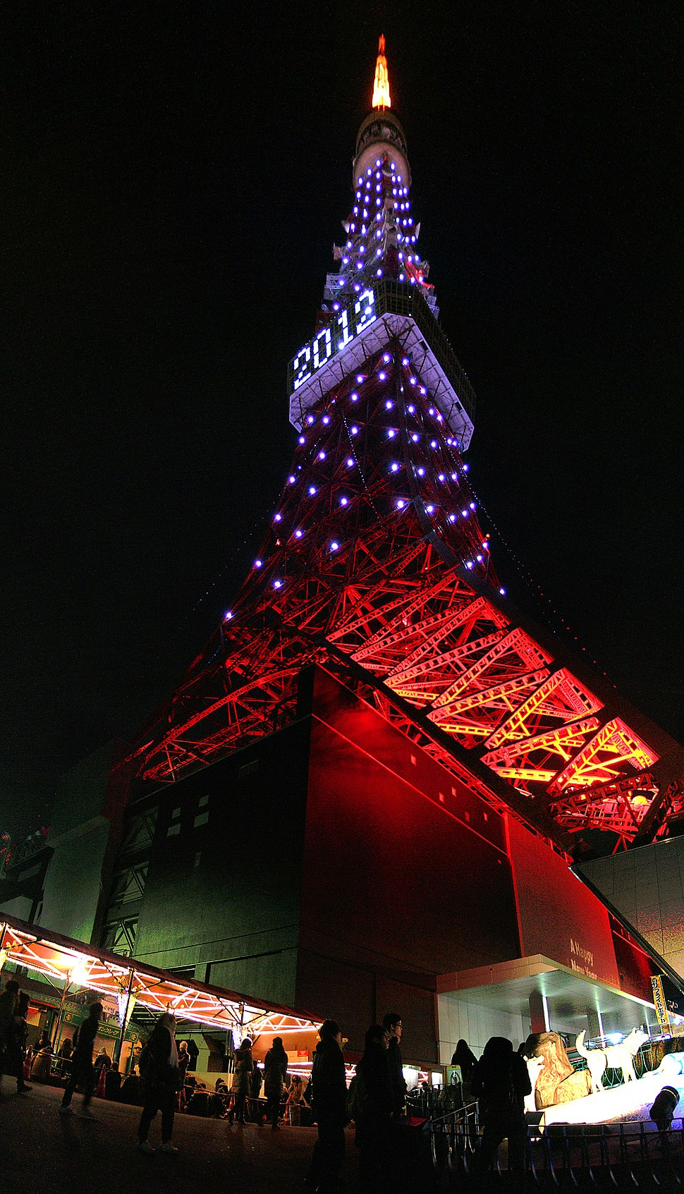 Tokyo Tower in New Year's Eve 2012