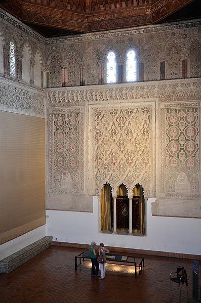 Interior de la sinagoga del Tránsito de Toledo