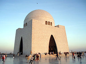 Mausoleum - Muhammad Ali Jinnah Mausoleum in Karachi, Pakistan.