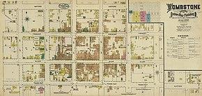 Map Of Arizona 1880.Tombstone Arizona Wikipedia
