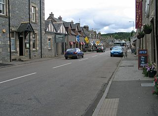 Tomintoul Village in Scotland