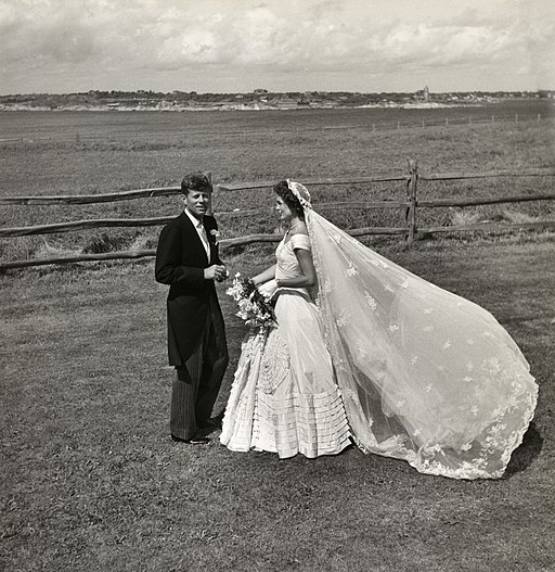 Toni Frissell, John F. Kennedy and Jacqueline Bouvier on their wedding day, 1953
