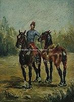 Toulouse-Lautrec - DEUX CHEVAUX AVEC ORDONNANCE, 1880, MTL.45.jpg