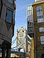 Tower Bridge from Shad Thames, Bermondsey, London.jpg
