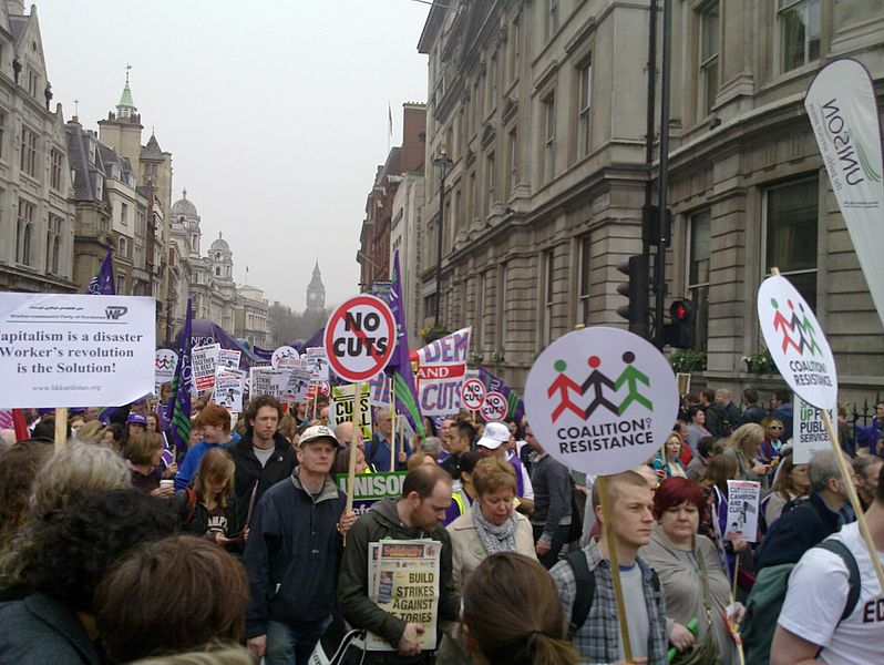 File:Trafalgar Square cuts protest.jpg