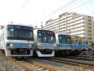 Tokyo Metro - Tozai Line 07 series, 05 series, and 5000 series trains
