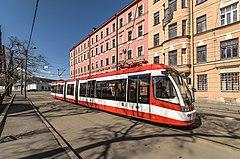 Трамвай челнок 3 го маршрута на к ст