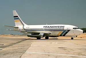 Transwede Airways - Boeing 737-200 pictured in 1989