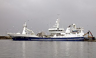 Fishing trawler - The Irish RSW Pelagic Trawler Brendelen SO709 in Skagen harbour