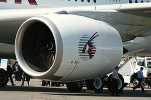 Rolls-Royce Trent XWB - A Trent XWB on a Qatar Airways Airbus A350-900