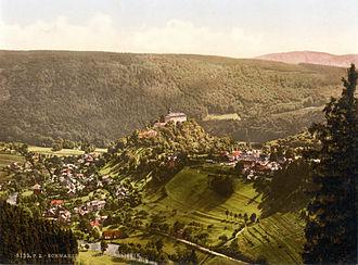 Schwarzburg-Rudolstadt - Aerial view at Schwarzburg