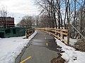 Tri-Community Greenway north of SCMS, March 2014.JPG