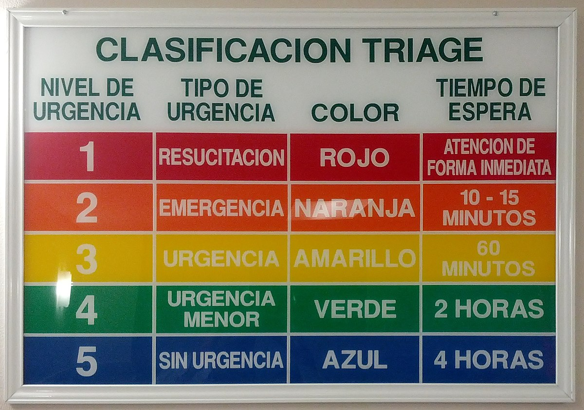 Emergency Room Priority Codes