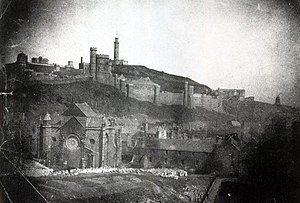 Trinity College Kirk - 1848 calotype by Hill & Adamson, shortly before its destruction
