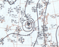 Tropical Storm Lola July 13, 1966 surface analysis.png