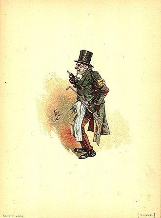 The Chimes - Trotty Veck by Kyd (Joseph Clayton Clarke)