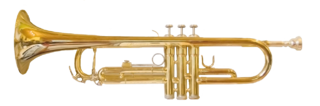 Trumpet musical instrument with the highest register in the brass family