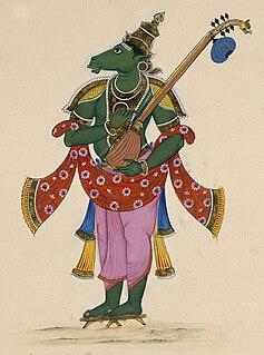 Tumburu celestial musician in Hindu mythology