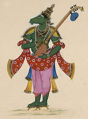 Painting of the heavenly musician Tumbara. &qu...