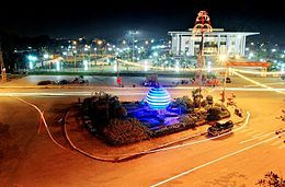 A corner of Tuyên Quang city at night.