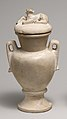 Two Handled Jar and Lid decorated with a Resting Calf MET 22.2.32.jpg