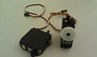Photo of a servo motor