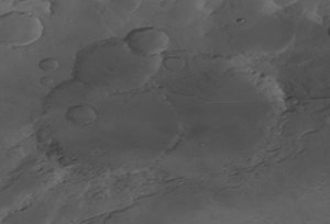 Tycho Brahe (Martian crater) - Image: Tycho Brahe Mars