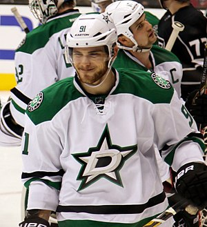 Tyler Seguin - Seguin in 2013 warming up with his current team, the Dallas Stars
