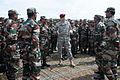 U.S. Army Maj. Gen. John W. Nicholson welcomes Indian army troops to Yudh Abhyas 2013.jpg