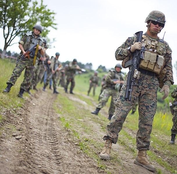 marine corps infantry firefight