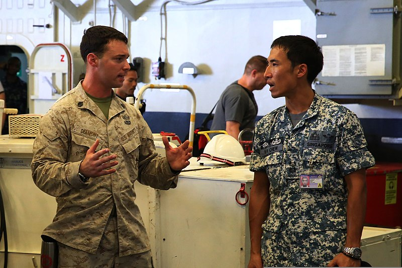 File:U.S. Marine Corps Staff Sgt. Anthony Delmont, left, an ...