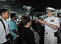 U.S. Navy Rear Adm. Michael S. White, the commander of Carrier Strike Group (CSG) 11, gives a tour of the bridge to Thai military members and nationals aboard the aircraft carrier USS Nimitz (CVN 68) in Phuket 130529-N-BJ752-145.jpg