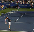 U.S. Open 2008 Thomas Johansson vs. Ernests Gulbis.jpg