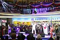 U.S. Sailors with the U.S. 7th Fleet Band's The Orient Express perform at the SM City Mall in Iloilo, Philippines, March 4, 2012 120304-N-SM668-022.jpg
